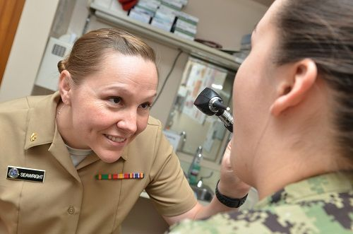 Service member visits the doctor's office