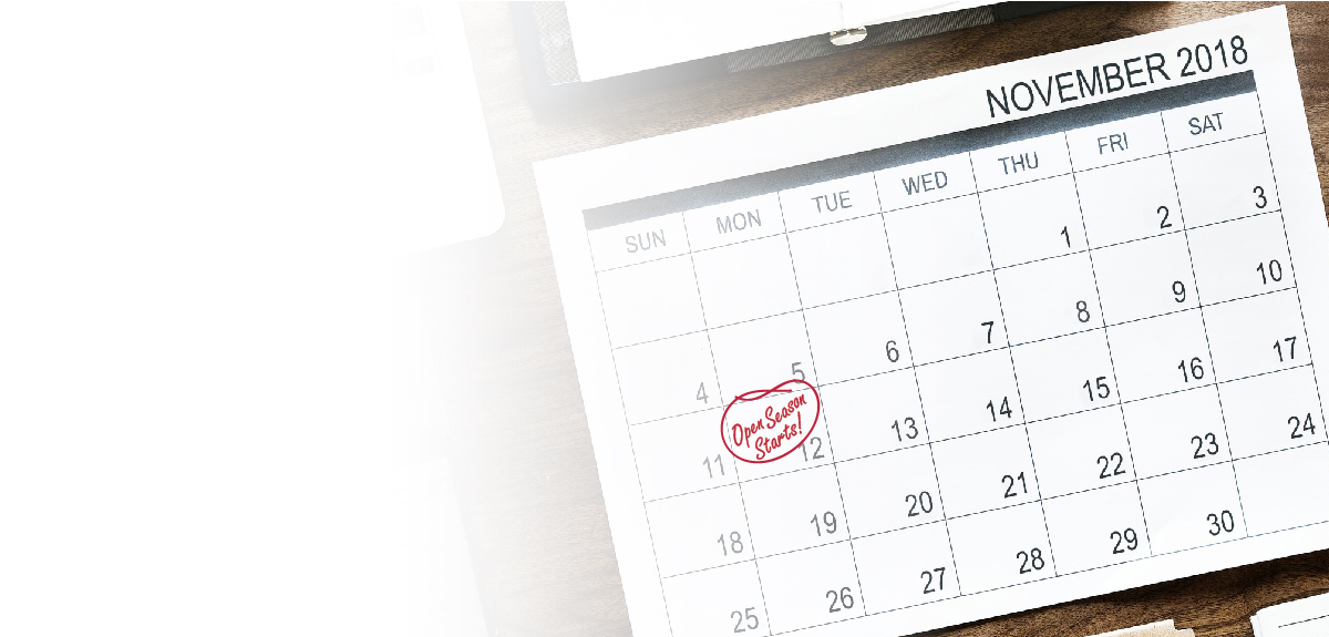 desktop calendar with date circled