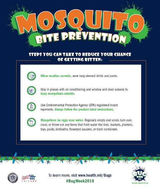 infographic about mosquito bite prevention