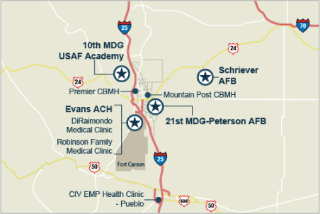 All Provider Directories Colorado Springs Military Health System - Us army dental base map