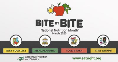 Bite by Bite, National Nutrition Month 2020
