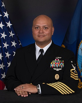 Official photo of CMDCM Swanson, Chief of Staff at Walter Reed National Military Medical Center