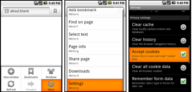 Screenshot of Android Mobile